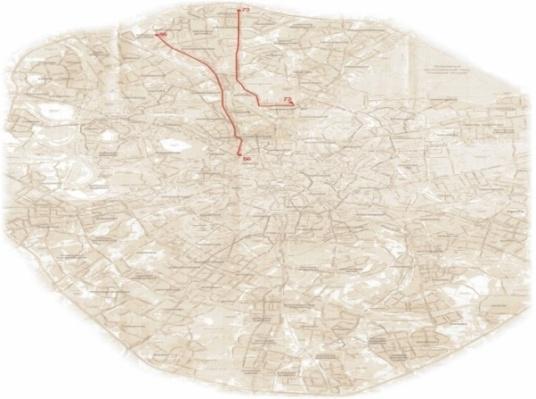 Схема маршрутов троллейбусов рекламной кампании университета.  Схема размещения на остановках Москвы.